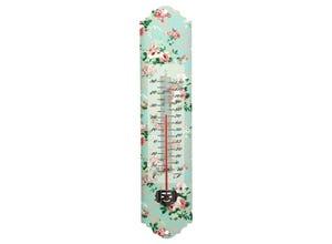 Thermomètre décor roses