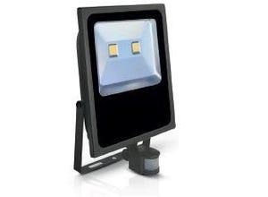 Projecteur LED plat avec détecteur de mouvement 230V 100W