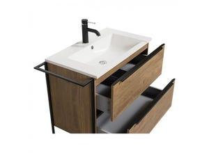 Plan vasque résine pour meuble de salle bain LUX 80cm