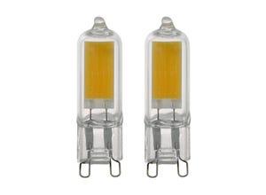 Blister 2 amp. led G9 2w - 210 lumens - 4000k blanc