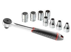 """Composition de serrage 1/2"""" 9 outils"""