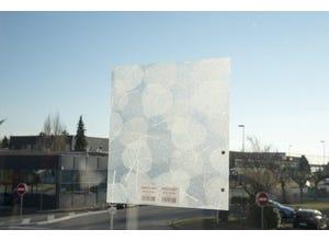 Film statique blanc transparent 60 cm vendu au mètre