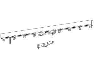 Rail tringle 2 rideaux 2m20 blanc BOULET