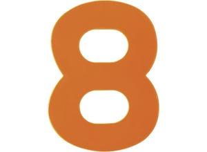 Chiffre haute visibilité pvc adhésif orange - n°8