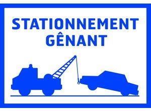 """Panneau de signalisation """"Stationnement gênant"""" pvc"""