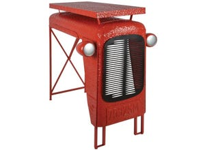 Table tracteur rouge