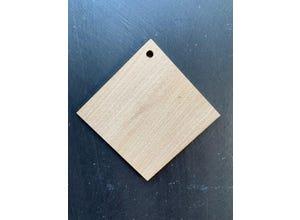 Etiquette châtaignier losange 9.5 X 9.5 cm
