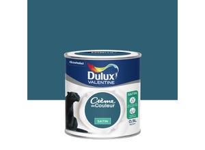 Crème de couleur satin bleu paon 0,5 l