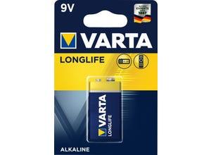 Pile alcaline longlife 6LR61/9V (x1)
