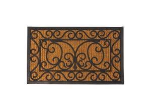 Paillasson rectangulaire en coco et caoutchouc 75 x 45cm