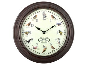 Horloge murale chants oiseaux