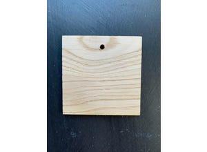 Etiquette châtaignier carrée 9,5 x 9,5 cm