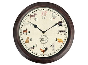 Horloge sons animaux ferme