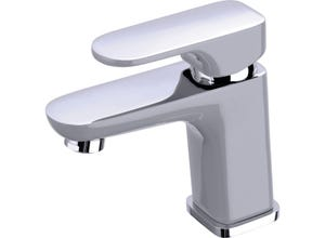 Mitigeur chromé et gris Elliot pour lavabo