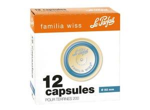 Boîte de 12 capsules bleues ø 82