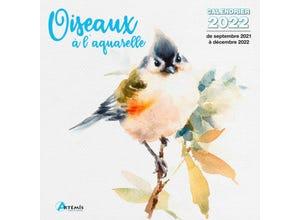 Calendrier oiseaux a l'aquarelle 2022