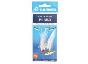 Bas de ligne Plumaq - 5 ham. 1/0 - Blanche