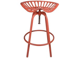 Chaise tracteur rouge