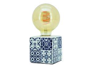 Lampe Bormio cube bleu