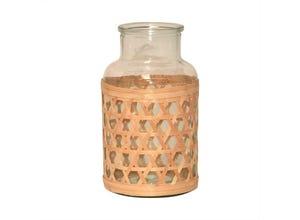 Vase verre osier sumatra h26