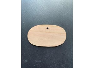 Etiquette châtaignier ovale 12 cm