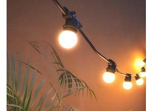 Guirlande festival Blanc chaud E27-5m - 10 ampoules