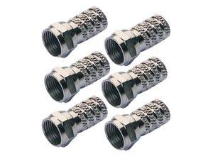 Lot de 6 fiches type F à visser pour câble 6,8mm