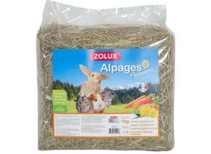 Foin des alpages premium aromatisé carotte-pissenlit