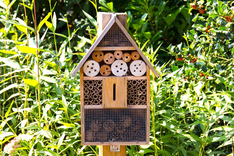 hôtel à insectes jardin