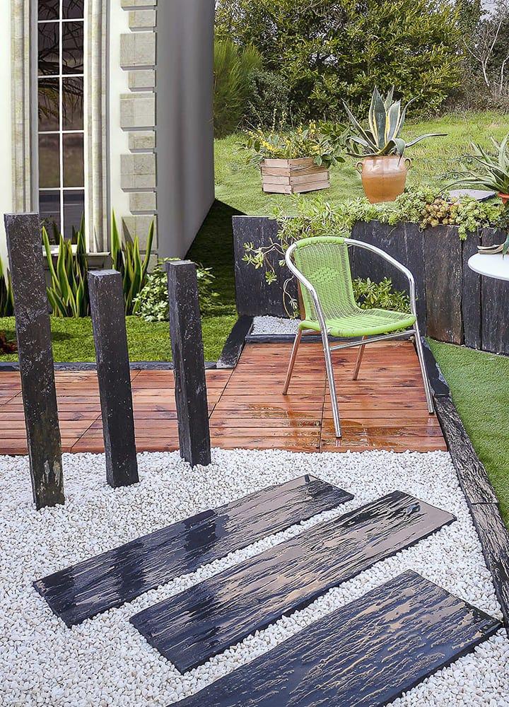 matériaux pour ornement jardin