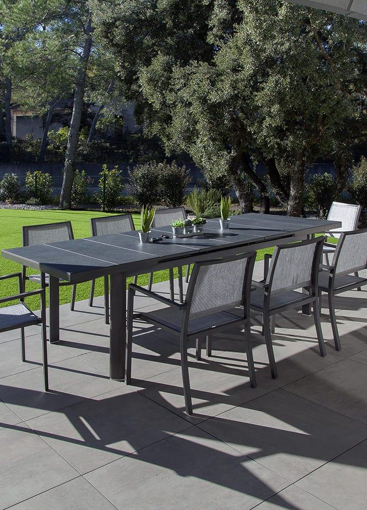 mobilier de jardin aluminium