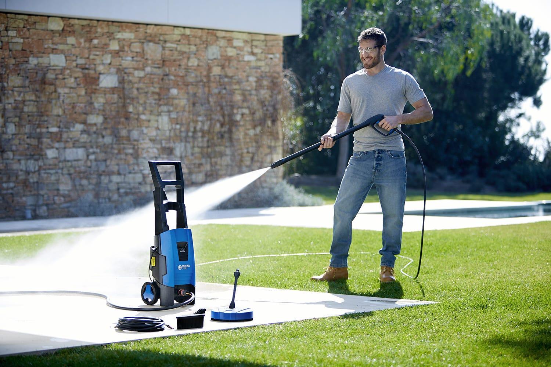 nettoyage terrasse encrassée avec nettoyeur haute pression