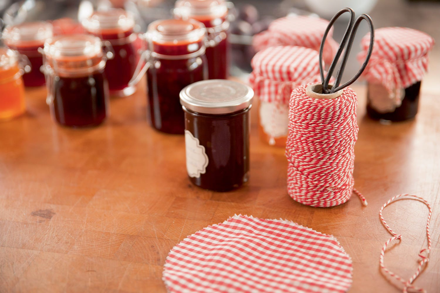 confection de pots de confiture maison