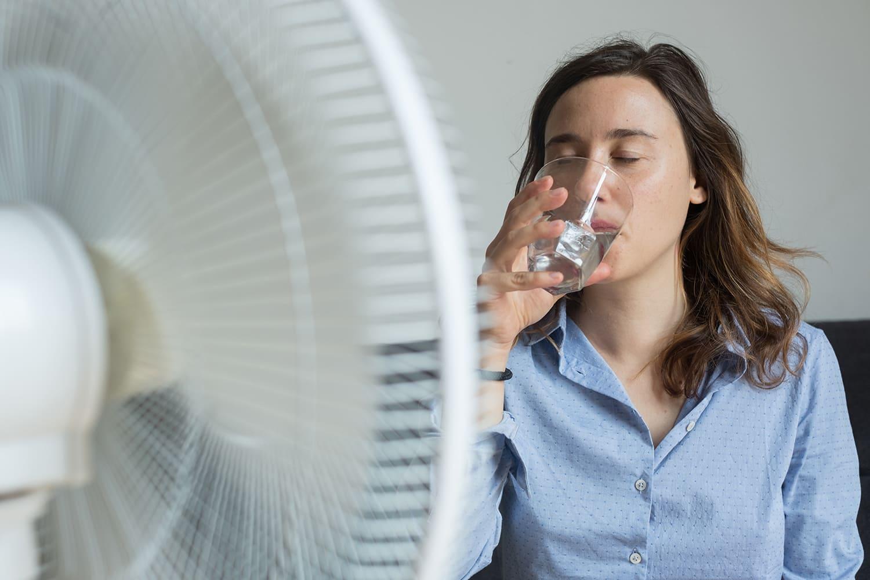 rafraichissement avec ventilateur